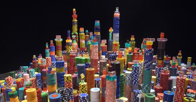 Plan en relief de Shangai, par l'artiste chinois Liu Jianhua