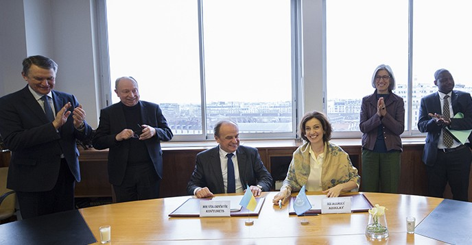 UNESCO and Ukraine sign agreement placing the Junior Academy of Sciences under the auspices of UNESCO