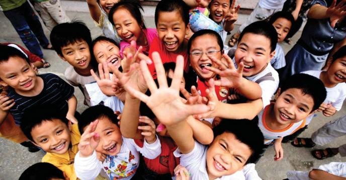 School children in Hanoi, Vietnam